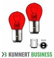 2x P21/5W 12V 21/5W BAY15d ROT Bremslicht Rückleuchte Lampe Birne Doppelfaden