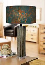 68cm Grande Scuro Bamboo Lampada da tavolo in legno con stampa giclee PARALUME RUSTICO color foglia di tè
