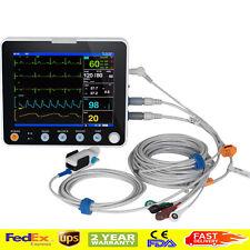 Fda 8 Inch Multi Parameter Monitor Icu Ccu Vital Sign Ecg Nibp Resp Temp Spo2 Hr