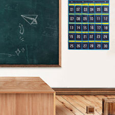Numbered Classroom Pocket Chart for Cell Phones Calculator Holders with Hooks
