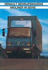 Renault Midliner M-Serie Prospekt NL 9/89 1989 dutch Lkw brochure truck Auto