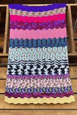 "Handmade Afghan Blanket Throw 40""X 62 Colorful One Of A Kind"