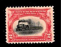 US 1901  Sc# 295  2 c PAN-AMERICAN EXPO  Mint NH - Crisp Color - Centered