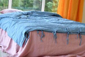 LINEN DUVET COVER TIES / linen bedding linen duvet cover queen duvet cover king