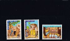 a136 - UPPER VOLTA - SG370-372 MNH 1972 TRADITIONAL HOUSING