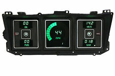 Ford Truck DIGITAL DASH Instrument Cluster Gauges for 1973 - 1979 Green LEDs!