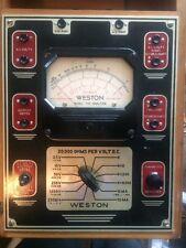 Vintage Weston Electrical Instrument Model 772 Analyzer  in Wooden Box