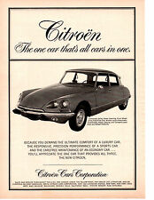 1969 CITROEN DS-21 PALLAS  ~  CLASSIC ORIGINAL PRINT AD