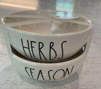 "Rae Dunn by Magenta L/L ""HERBS"" & ""SEASON"" Seasoning Dishes HTF Rare NEW"
