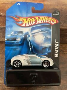 2007 HOT WHEELS MYSTERY BUGATTI VEYRON WHITE