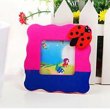 1pc Mini Family Wooden Child Baby Kids Childhood DIY Photo Picture Frame Gift
