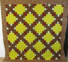 Important c 1830/40s Glaze Chintz Antique Quilt 99 x 98 Documented York CTY Pa