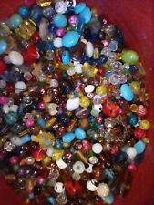 3lb Mixed Lot Glass Beads & Jewelry Supplies Earrings All Shapes & Sizes Quality