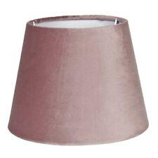 Lampenschirm Leuchtenschirm altrosa Samt modern Clayre & Eef E27 25x18 Cm