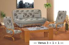 NEW Sofa Bed SETTEE COUCH SET 3+1+1 storage 2 X MATCHING CHAIR polskie wersalki