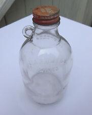 Old Vintage 1948 Bottle Paradise Wines 4/5 Pint Original Lid Metro Glass