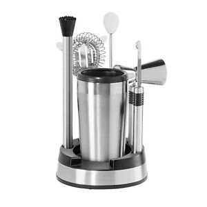 OGGI 8-Piece Stainless Steel Bar Tool Set With Cocktail Shaker - New