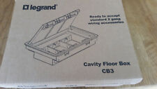 Legrand CB3 Grey Floor Box 3 Compartments 85mm with Locking Mechanism