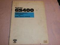 1978 78 SUZUKI GS400 GS 400 SUPPLEMENT SHOP SERVICE REPAIR MANUAL