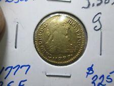 1777 Columbia 1 Escudo Gold Coin In Very Fine Condition