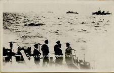 Surrender of the German Fleet Ships Boats RPPC Real Photo Postcard C15