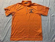 Adidas Golf Inland Empire Invitational Climalite XLARGE Orange Stripe Polo Shirt