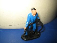 One plastic figure Toy man holding snake vintage