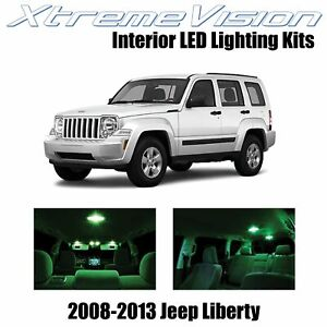 XtremeVision Interior LED for Jeep Liberty 2008-2013 (9 PCS) Green