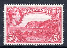 Montserrat 5/- P14 lmmint KGVI Cat £30 [M803]