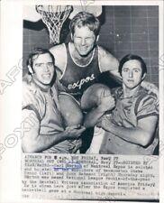 1971 Montreal Expo Baseball Carl Morton & Steve Renko & John Bateman Press Photo