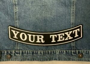 """11.5"""" BOTTOM ROCKER PATCH BIKER PERSONALISED CUSTOM SEW ON EMBROIDERED PATCH"""