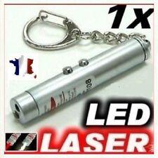 Pointeur Laser rouge 3 En 1- Laser / Lampe De Poche LED / Porte Clé