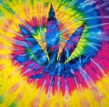 POT LEAF TYE DYED TEE SHIRT mens womens SIZE MED hippie tie dye tees NEW SWIRL