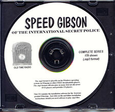 SPEED GIBSON OF THE INTL SECRET POLICE  178 Shows Old Time Radio 1 MP3 Format CD