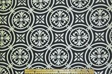 Home Decor Upholstery Fabric Minton Domino Black White/off white ivory