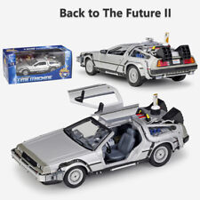 Back To The Future II 2 Delorean Time Machine WELLY 1:24 Scale Model Car Alloy