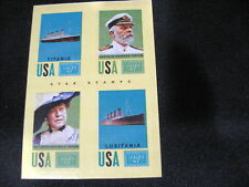 2014 GOLDEN AGE STAMPS--TITANIC/CAPTAIN SMITH/MOLLY BROWN/LUSITANIA