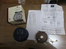 Stunning hardy alnwick golden JLH ultralite 8/9 trout fly fishing reel complete.