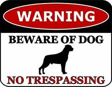 Warning Beware of Dog No Trespassing Rottweiler Dog Sign SP2831