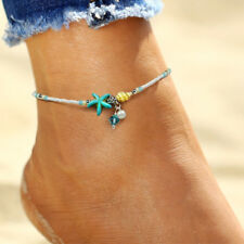 Hot Ladies Summer Seaside Beach Turquoise Beads Anklet Accessories Feet Jewelry