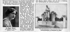 Soldats monument dans Niederdorf dans le tyrol du sud (Monte pina avalanches-accident) c.1912