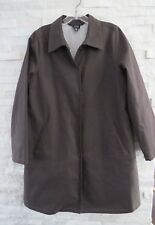 Eileen Fisher Brown Cotton Polyester Water Resistant Raincoat Jacket S