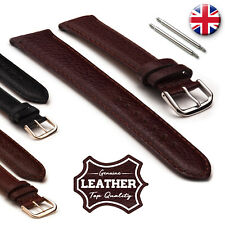 Genuine Leather Watch Strap Band Denver Grain 12 14 16 18 20 22 24 Men's Women's