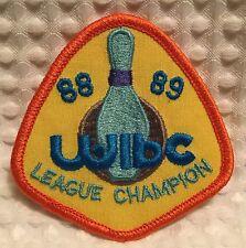 Wibc Women's International Bowling Congress 1988 1989 League Champion Patch