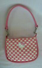Sanrio Smiles 2007 HELLO KITTY Mini Pink & White Waffle Purse Handbag