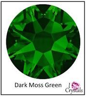 DARK MOSS GREEN 16ss 4mm 1440 pcs Factory Swarovski Crystal Flatback Rhinestones