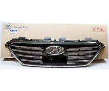 New OEM 15-16-17 Sonata Front Bumper Grille With Adaptive Cruise Upper Grille