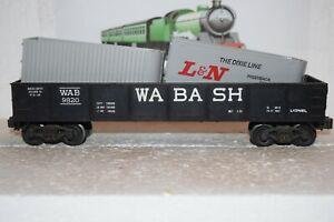 O Scale Trains Lionel Wabash Gondola 9820 w/scrap trailers