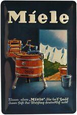 Miele Waschmaschine Schild geprägt 20 x 30 cm Reklame Retro Blechschild 284