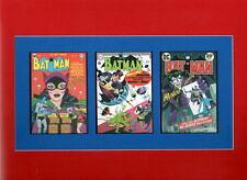BATMAN COMICS 65 190 251 COVER PRINTS PROFESSIONALLY MATTED Catwoman Joker